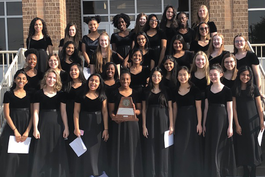 Choir made history as they competed in  UIL Concert and Sightreading Contest. Mixed and Womens' choir both got sweepstakes.