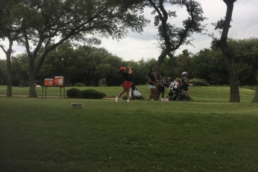 After having score 149 in the 5A UIL golf tournament Monday and Tuesday, sophomore Raeleigh Davidson finished in 7th place. The state level competition took place in White Wing Golf Club in Georgetown.