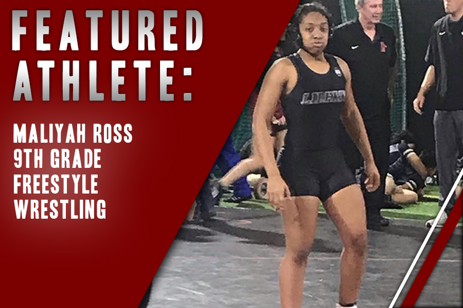 Freshman wrestler Maliyah Ross walks away after completing a wrestling match at Coppell High School. Ross also participates in freestyle wrestling outside of traditional wrestling, returning from the state competition last weekend.