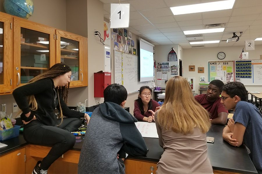 While in school, Pre-AP biology students began their unit on viruses. Coincidentally, teachers are using COVID-19 in their lessons so that students can connect their classwork with reality.