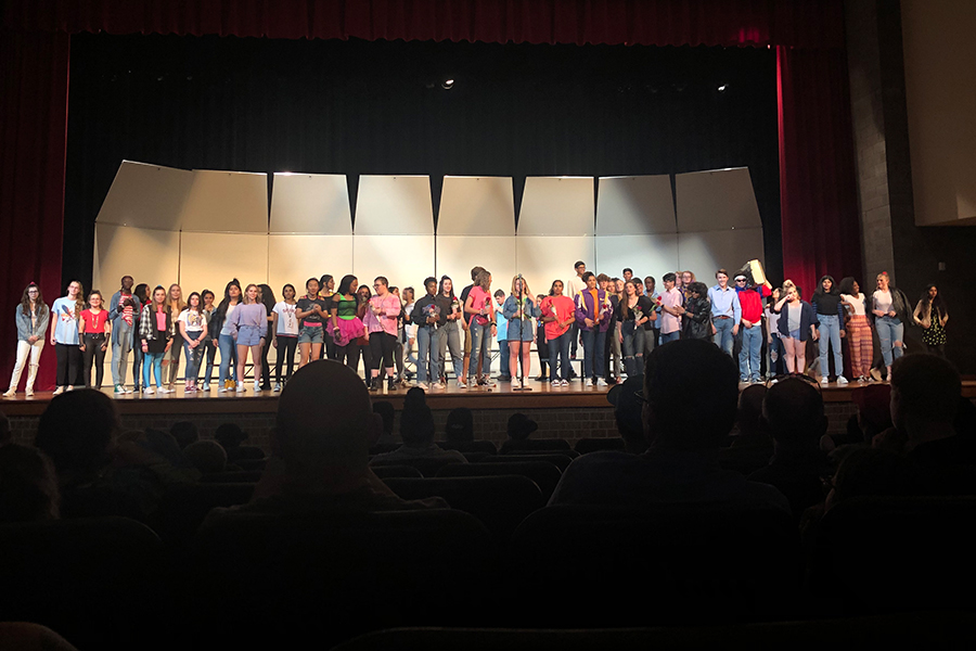 Bringing the year to a close, choir had an 80s themed concert on Tuesday night. The theme allowed students to expand their horizons as singers as they were presented with the chance to sing different styles of music.