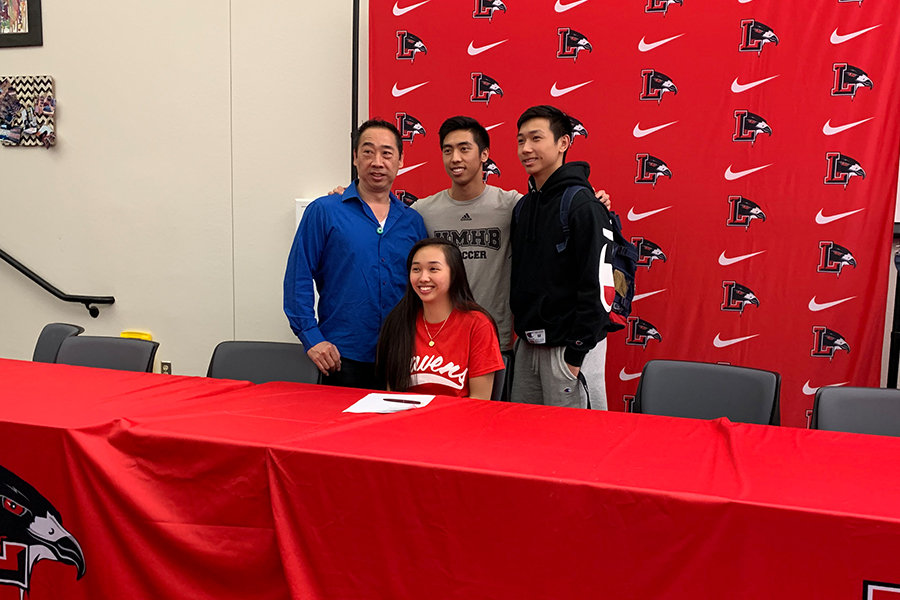 Basketball athlete Kailyn Lay signed a National Letter of Intent to continue her athletic career at Coffeyville Kansas at a Signing Day Ceremony Wednesday in the library.