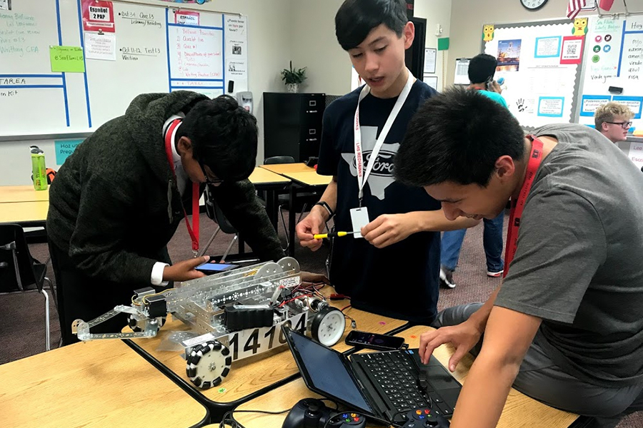 """Special education kids on campus and in the community are getting the chance to build robots at Saturday's First Tech Challenge """"Robo Para-Olympics"""" """"I thought about this and because we have only one robot so it will be kind of challenging for him to actually build something,"""" Patricia Flores said. """"So at the back of my mind I was thinking about the lack of opportunity for children with special needs. So when I talked to the president of the club he suggested the idea of hosting a monthly workshop and we can teach them."""""""