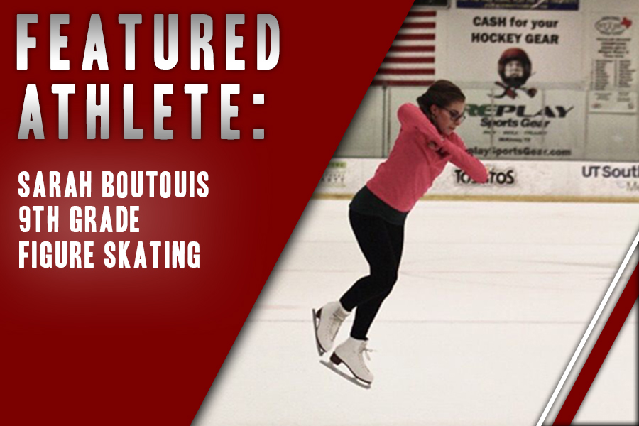 Balancing classwork and the viola, freshman Sarah Boutouis spends much of her time not at school on the rink with her synchronized skating team. Constantly striving for improvement along with spending time with her teammates keeps Boutouis going.