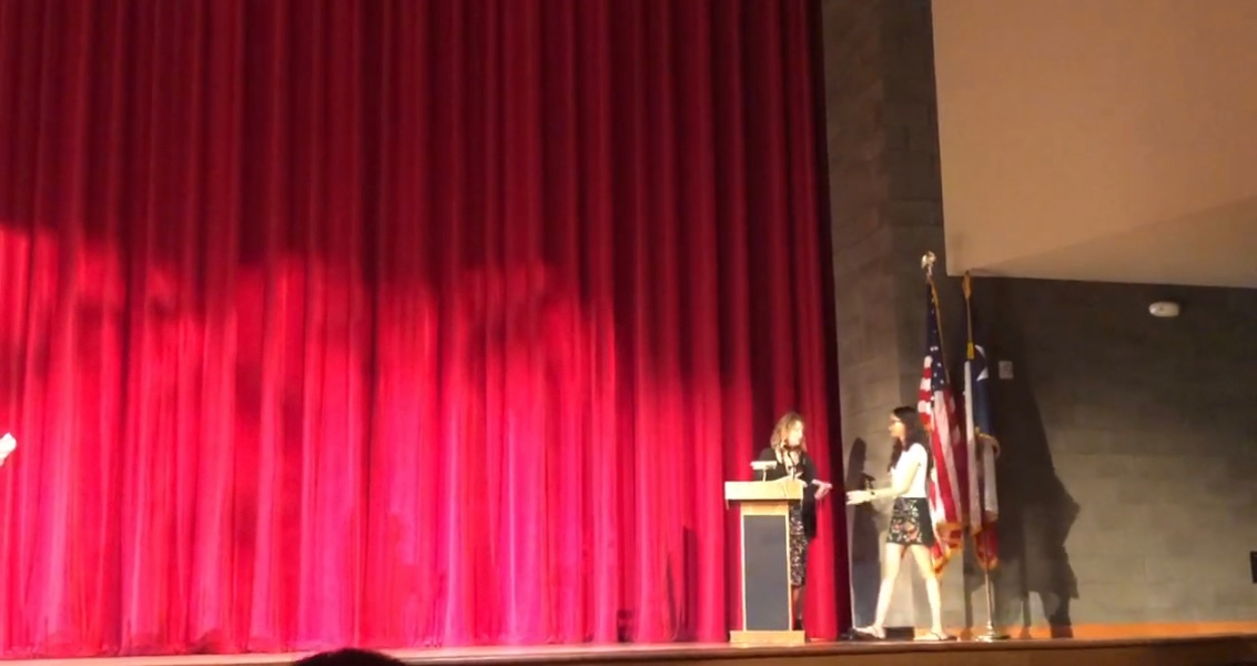 Seniors take the stage Monday morning to accept senior awards in the last two weeks of school. Recognizing students for purely academic success, the class of 2019 were placed in the spotlight for their work over the last four years.