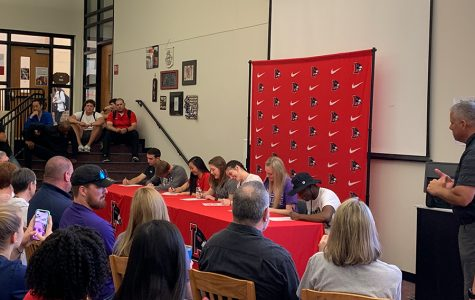 Redhawk athletes sign letters of intent