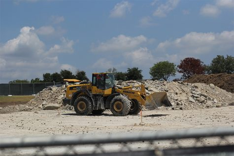 Construction underway on new parking lot