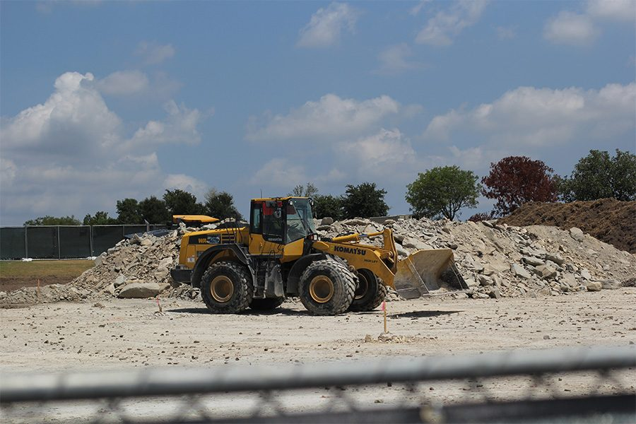 Construction has begun on a new parking lot behind the fieldhouse. The $6 million dollar project was set to break ground during the summer, but was held off until approved by the city of Frisco.