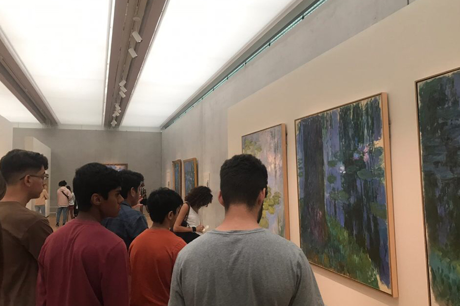 "AP art students spent Friday at the Kimbell Museum in Fort Worth where they spent the day examining the works of Monet.  ""The purpose of this field trip is to see the later year works of Monet and to learn about impressionism and what made his work so important and controversial,"" art teacher Pernie Fallon said."