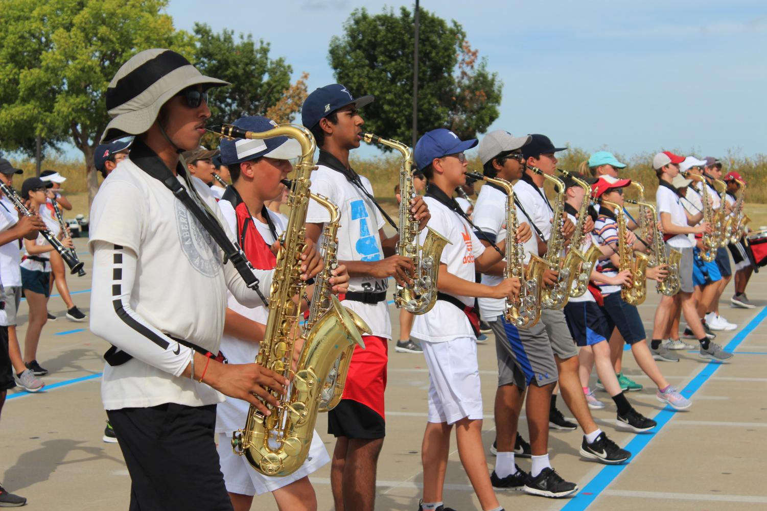 With The Little Elm Classic on Homecoming, September 28th, band members had to miss out on the annual event.  Although members of the band didn't have a chance to go, the band is hosting its own Homecoming Saturday letting members to put down their instruments for one night.