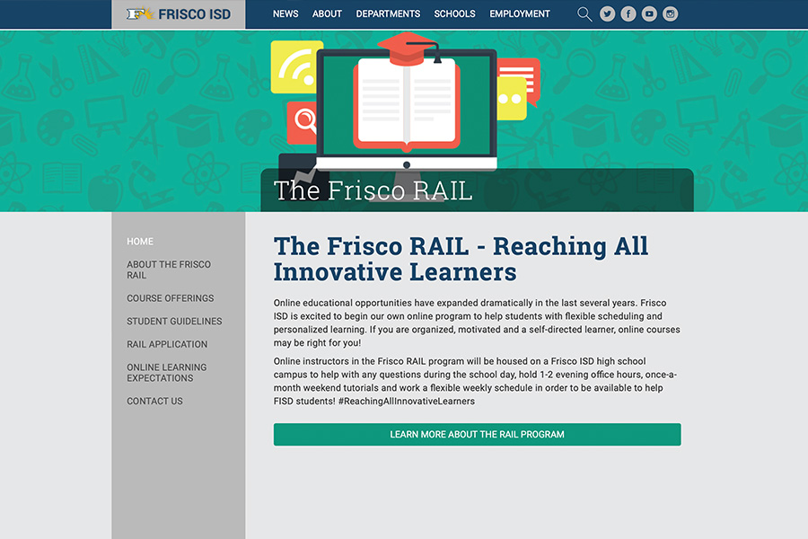 In addition to credit recovery, The Frisco RAIL program now allows students to take extra courses in order to graduate earlier. Compared to a Texas Virtual School Network course, which costs up to $400, a student wanting to take extra classes must pay $225, although those recovering credits may take online courses without a fee.