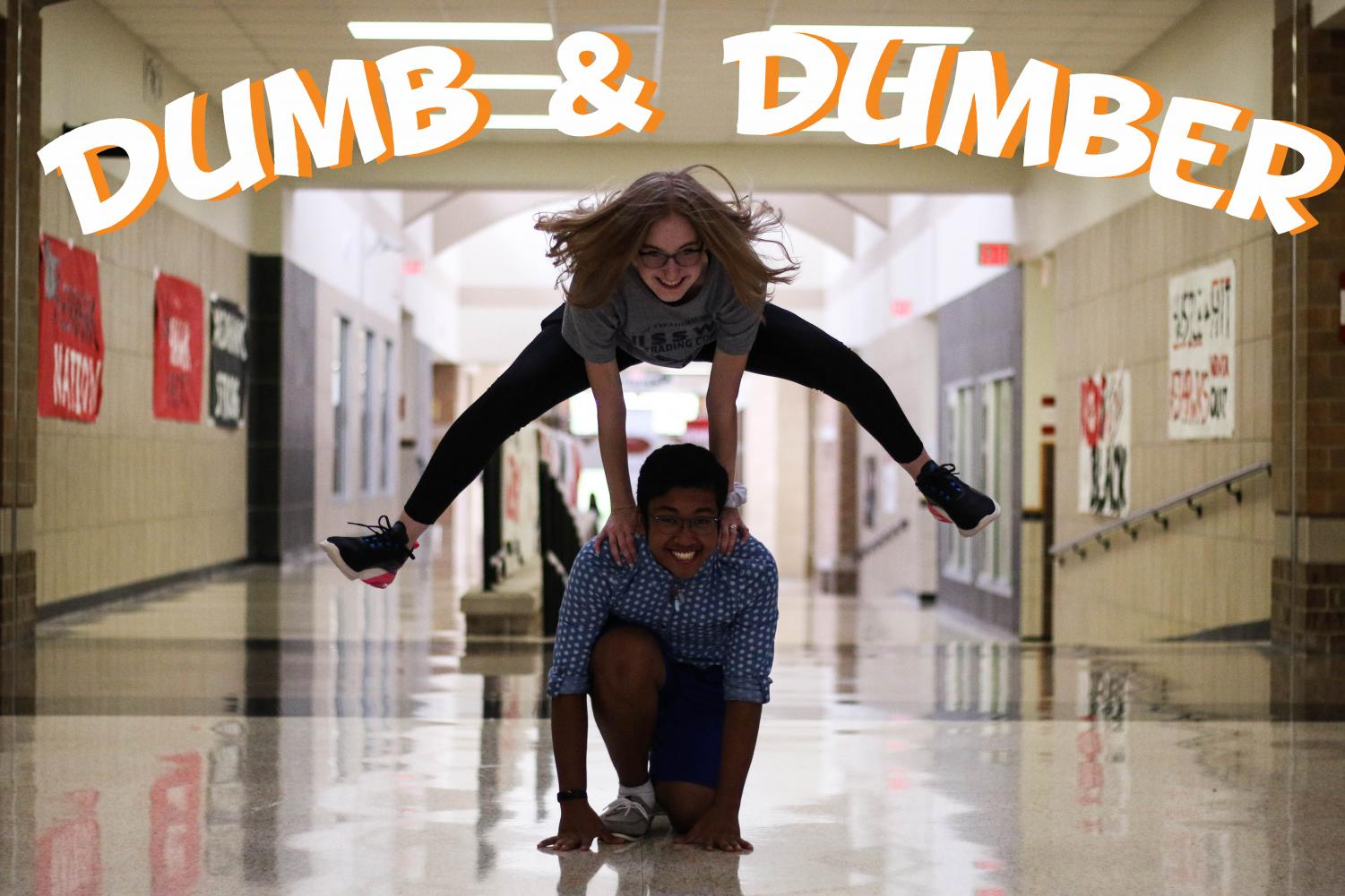 Seniors Emily Vetvick and Michael Martin will discuss anything from shower thoughts to high school in their podcast, Dumb & Dumber.
