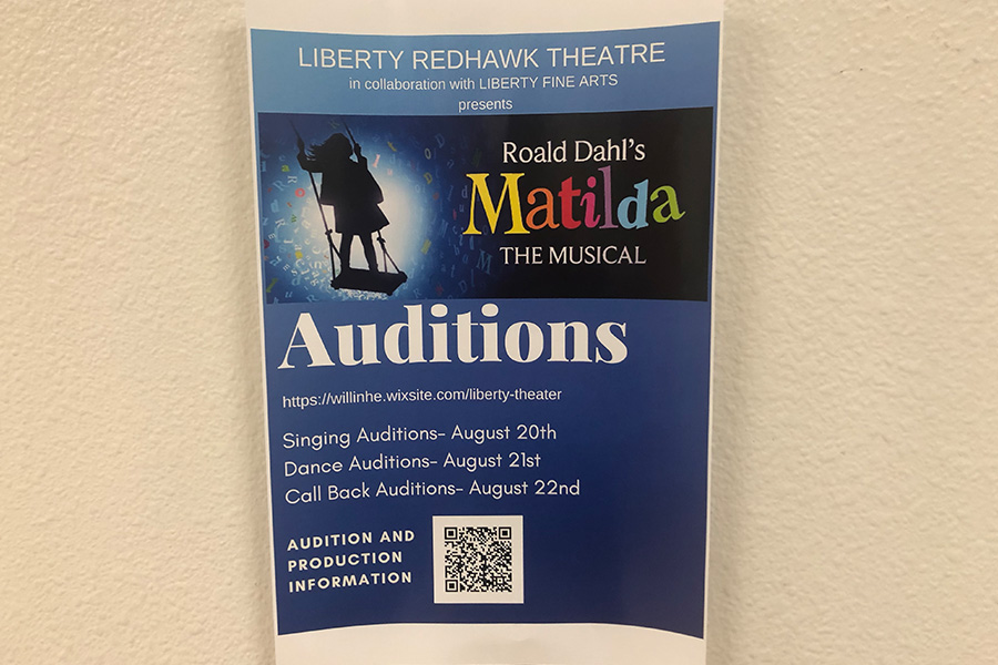Students will have the chance to take the stage as auditions for Matilda are beginning. Auditions will take place over the next three days in the auditorium.