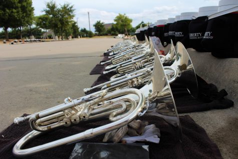"""Outside in the band parking lot and socially distanced, the band is finding an opportunity to recognize its members by hosting a banquet Tuesday at 7 p.m. """"The event is free, and participants should bring their own food. Students and their families could reserve tables through a form and indicate anyone that they wanted to sit with. Tables will be socially distanced and everyone in attendance will be required to wear a mask,"""" associate director of band Tyler Elvidge said."""