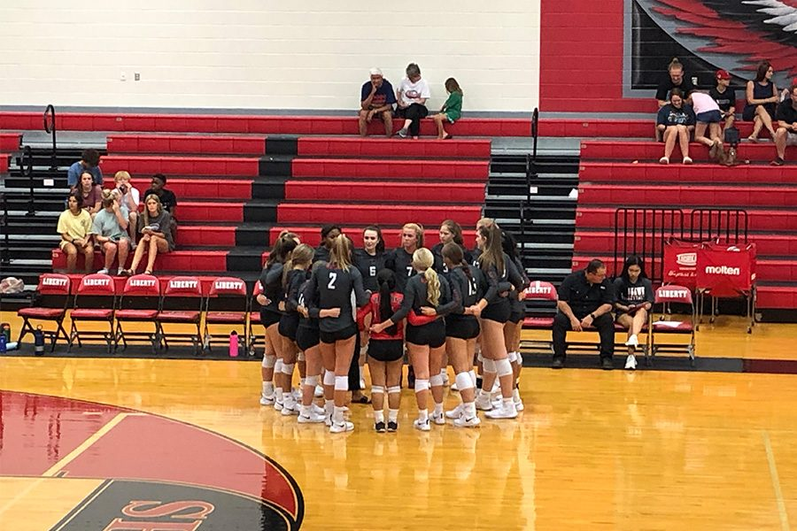 Redhawks+claim+their+eighth+straight+win+in+the+District+9-5A+season+after+dominating+against+Lone+Star+3-0+on+Friday%2C+Sept.+13%2C+2019.+Volleyball+looks+to+continue+this+streak+as+they+take+on+Frisco+High+on+Tuesday.