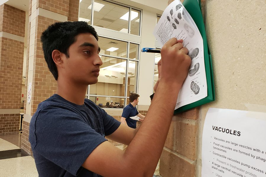 Keshav Narasimhan and his AP Biology class hit the halls to learn about biology in a setting other than the classroom. With a more interactive style of learning, students can stay more engaged in the material.