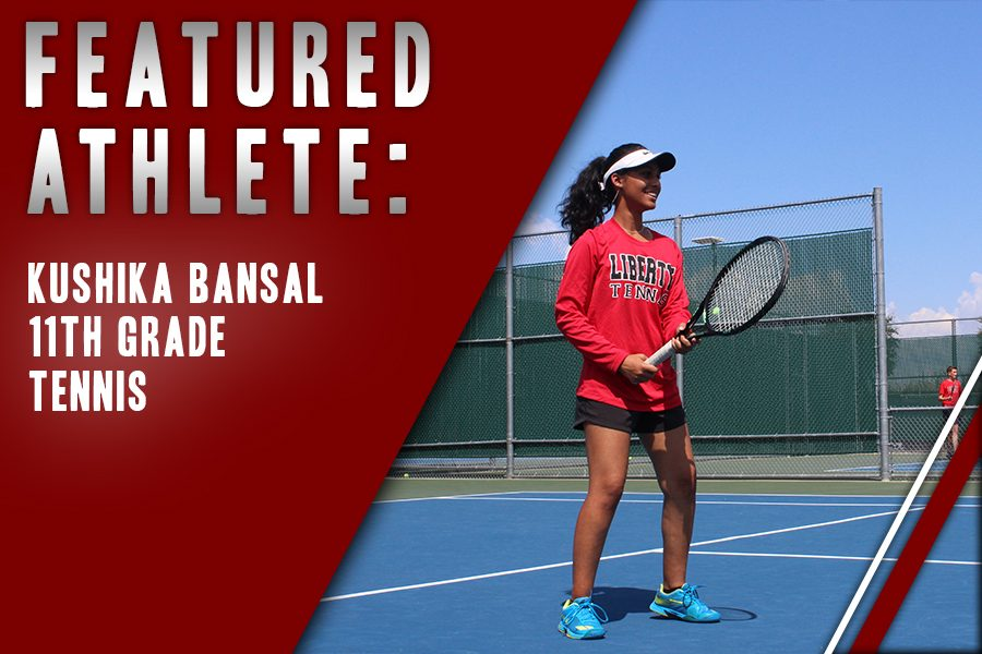 Junior Kushika Bansal credits time management for success on the court with the varsity tennis time while maintaining her grades. Bansal loves the competition of the sport and appreciates the support that comes with playing as part of a team.