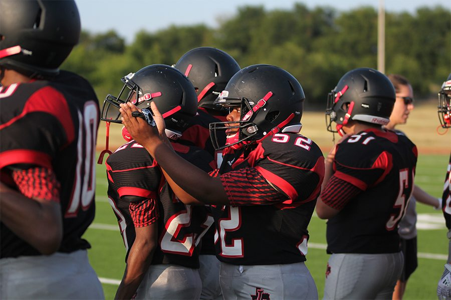 Looking+to+end+their+losing+streak%2C+football+took+on+The+Colony+on+Friday%2C+Oct.+4%2C+2019.+However%2C+Redhawks+fell+47-3+in+District+5-5A.