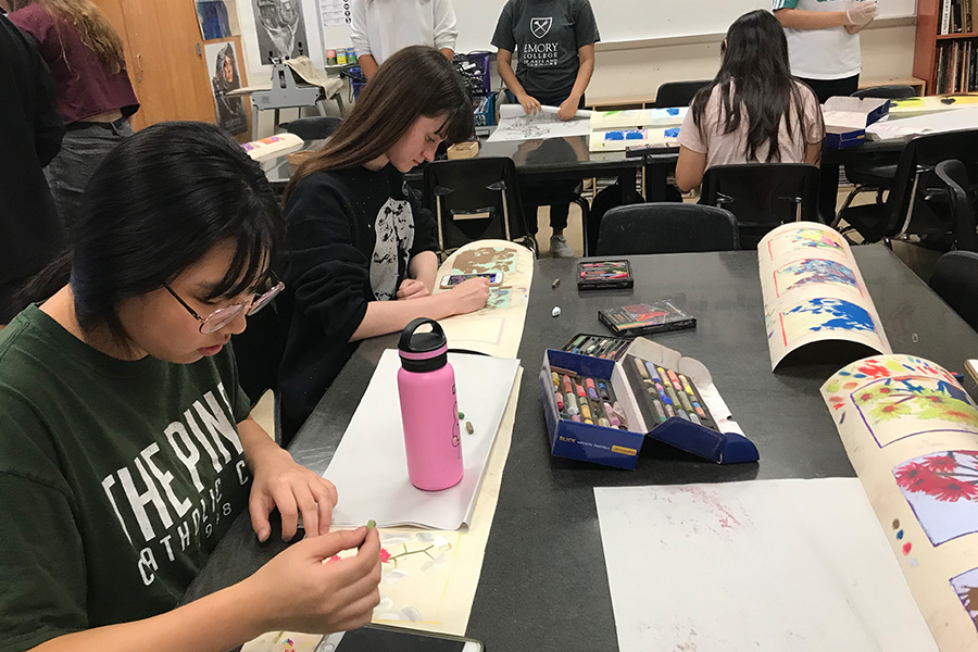Throughout the year, students will translate their central focus, or sustained investigation, into works of art to be used in their AP portfolios. Student portfolios will be due to College Board on May 8, 2020.
