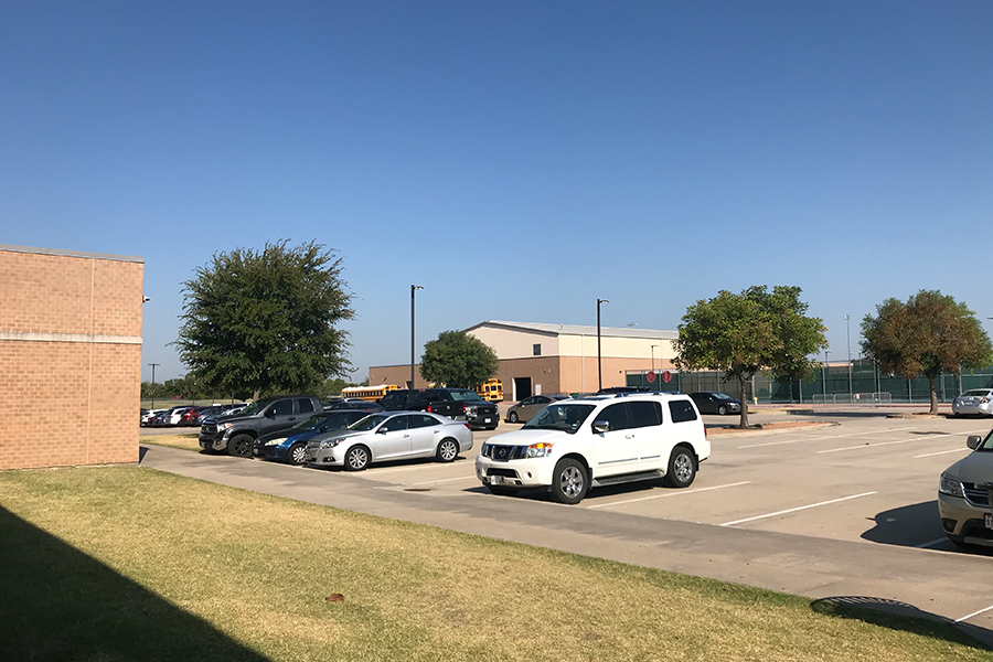 After warning stickers were given out on Wednesday, Sept. 4, 2019, to students parking in the lot behind the gyms, the area has multiple open spots for teachers to choose from. For coaches and teachers, this will ensure that they always have a place to park.