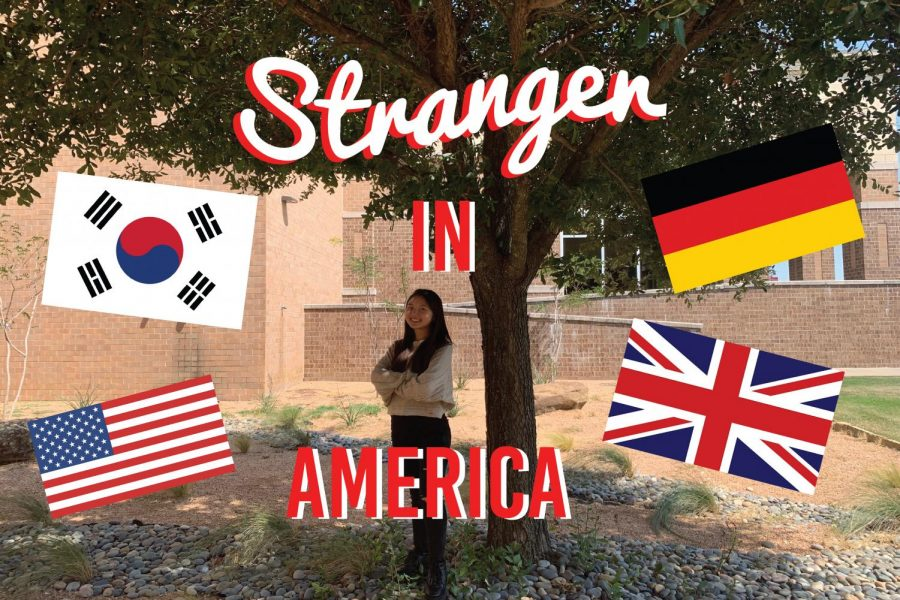 Originally+from+South+Korea%2C+and+then+moving+to+Germany%2C+England%2C+and+finally+Texas%2C+sophomore+Stephanie+Chung+talks+about+all+the+new+things+in+her+life+as+she+embarks+on+her+journey+as+a+Stranger+in+America.