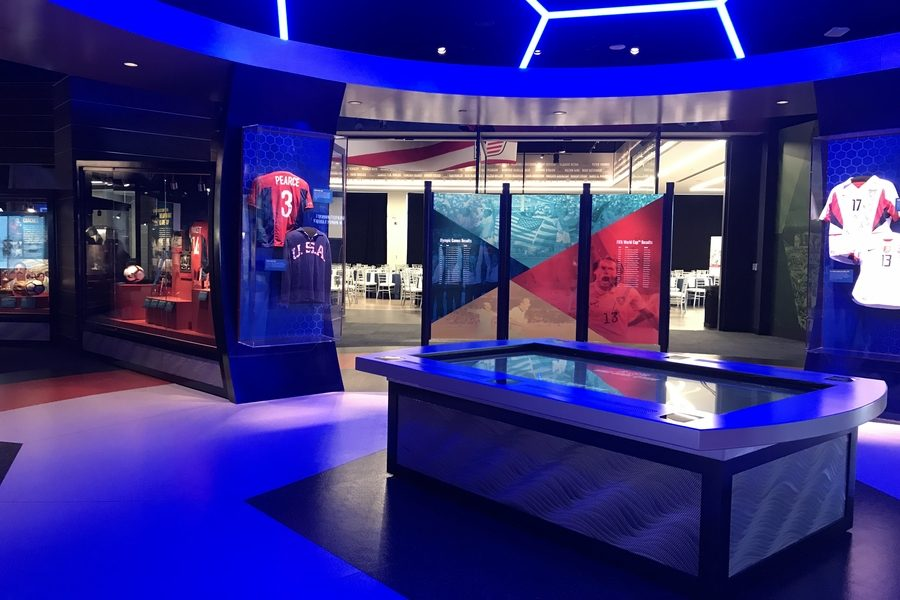 While the institution was founded in 1950 and established in 1979, the National Soccer Hall of Fame museum opened in October 2018 at Toyota Stadium.