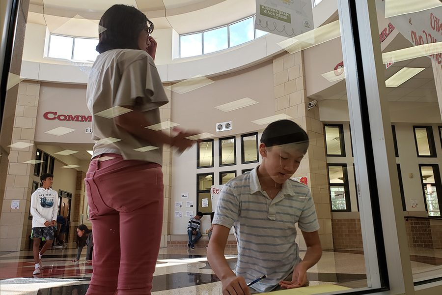 Samantha Umail and Nathen Chen are collaborating on work for AP human geography, outside of the classroom. Teachers of all courses are beginning to utilize this strategy, to create a more interactive way to teach.