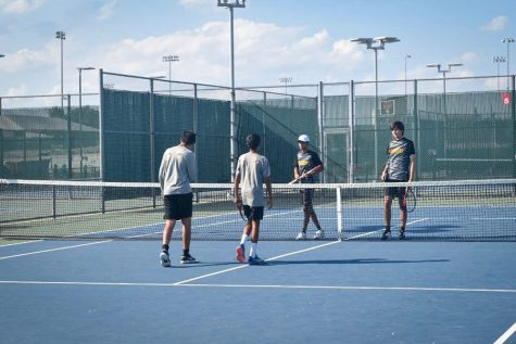 Friday the tennis team completed in Polar Vortex. The team had multiple doubles place in the top 5.