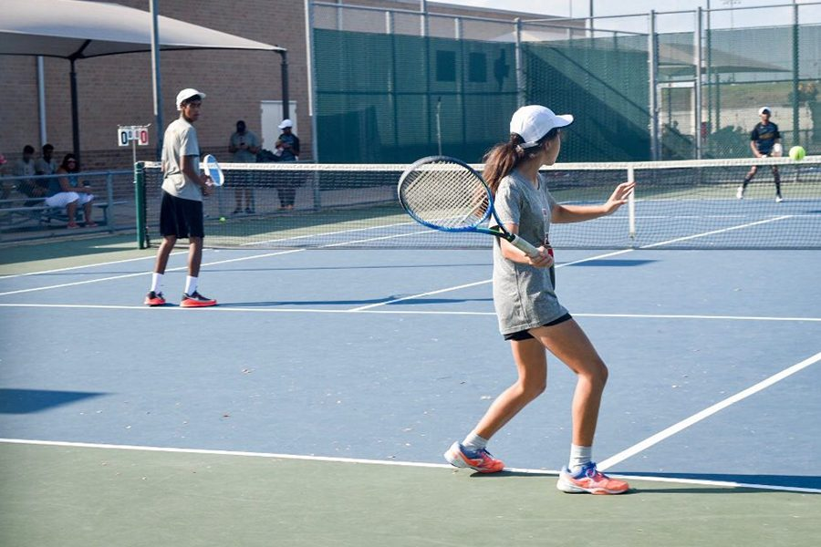 The tennis team ended their season with a final win over Memorial High School. They ended their District 9-5A season 4-5.
