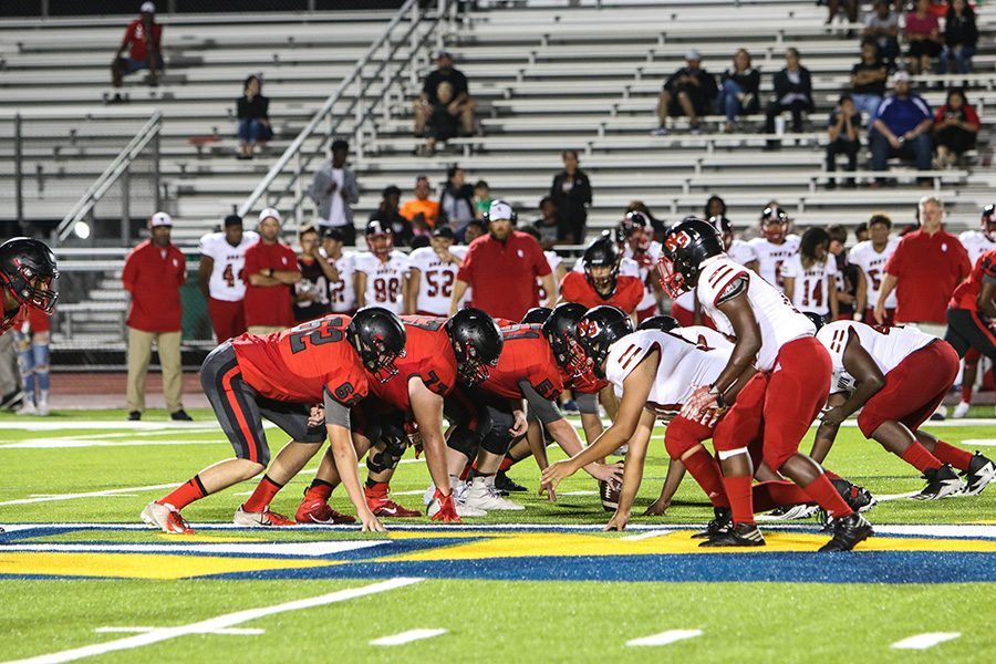 Football takes on Carrollton Creekview on Thursday in a non-district game. The team hopes to make a comeback after a 42-7 loss against North Garland in its season opener.