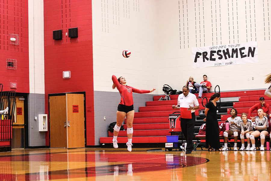 Volleyball+lost+their+first+District+9-5A+preseason+game+against+Weatherford+High+School+Tuesday+night.+They+look+to+host+Bishop+Lynch+Friday+night+at+the+Nest.