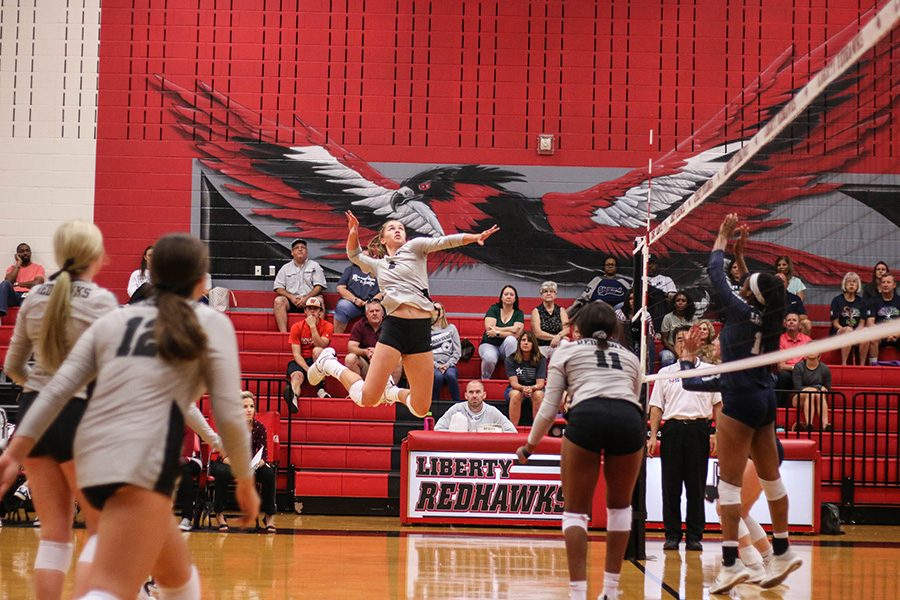 The volleyball team travel to Heritage High School to conquer the Coyotes 3-1. They look to continue their winning streak Friday against Lebanon Trail.