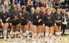 Losing the first set by 10 points (25-15), the Redhawks won the next three sets (26-24, 25-20, 25-18) to earn the 3-1 win, and bringing Lebanon Trail's 11 game winning streak to an end.  The Redhawks own winning streak moved to 11 games with the team now 9-0 in district play.