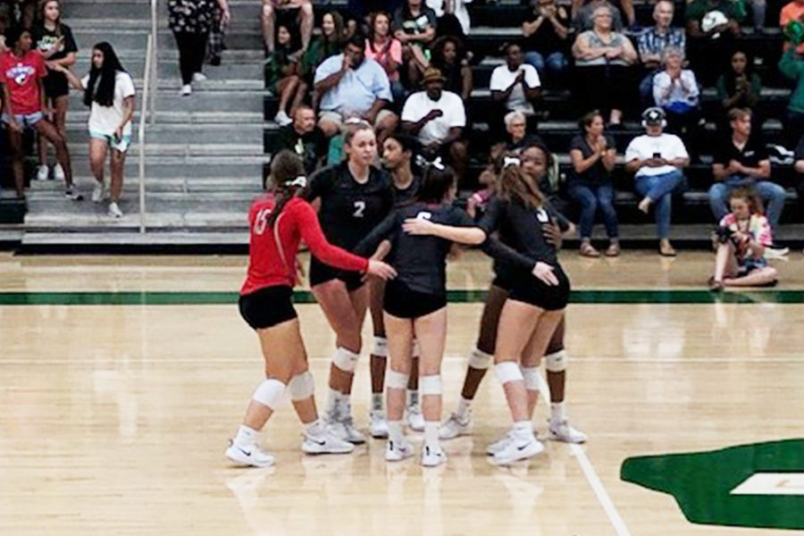 After+defeating+Lebanon+Trail+3-1+on+Friday%2C+volleyball+extended+its+winning+streak+to+11+games.+The+Redhawks+play+the+Wolverines+at+Wakeland+at+5%3A30+p.m.