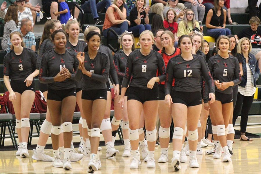 Losing the first set by 10 points (25-15), the Redhawks won the next three sets (26-24, 25-20, 25-18) to earn the 3-1 win, and bringing Lebanon Trails 11 game winning streak to an end.  The Redhawks own winning streak moved to 11 games with the team now 9-0 in district play.