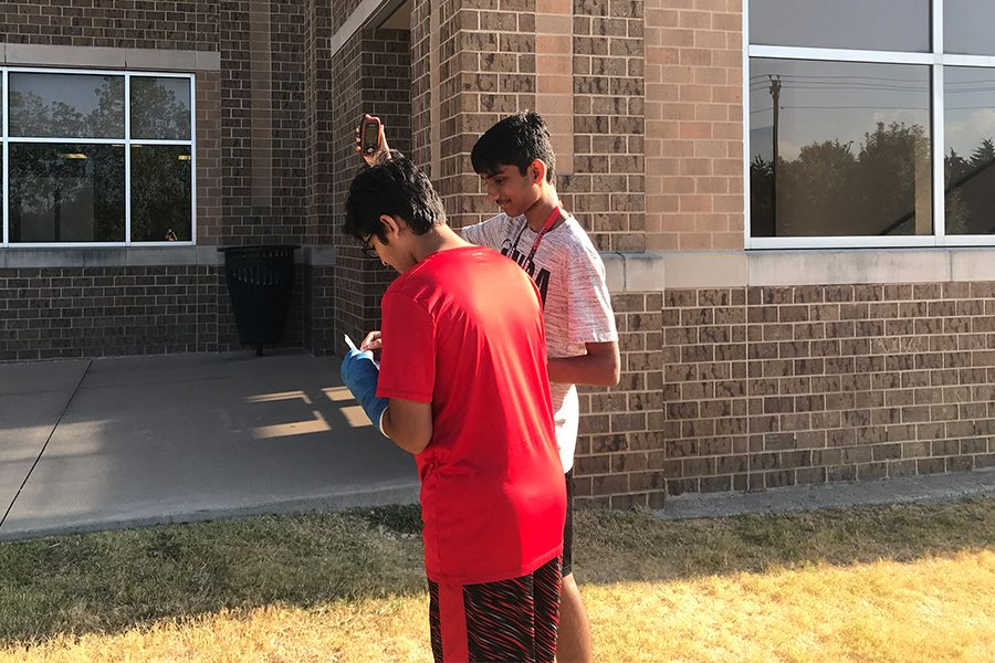 Varun Saravanan and his fellow AP Human Geography students head outside to experience human geography outside of the classroom, and in a way teachers hope benefits the students more. The class teaches students about geography of the earth, and geography of people, two concepts that the geocaching experience can help students understand.