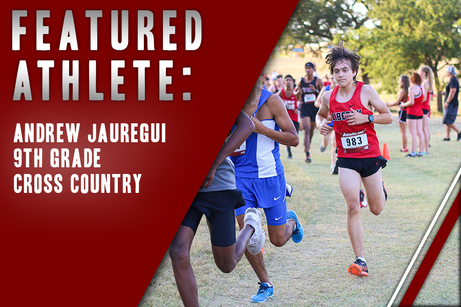 While freshman Andrew Jauregui runs individually, he enjoys the aspect of being part of a team with his peers. With a few meets under his belt this year, Jauregui feels confident about his future in the sport.