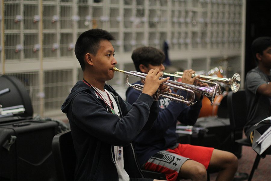Junior Chris Xiao is apart of the trump section on campus. Xiao hopes to continue his passion by playing his trumpet as a hobby after high school.