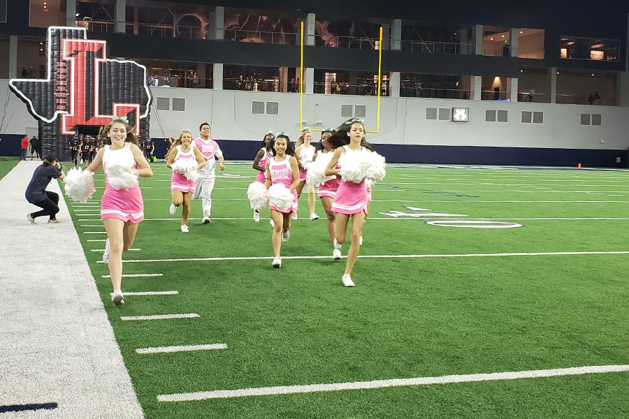 It was a Pink Out game for the Redhawks as they hosted the Centennial Titans on Friday, Oct. 11, 2019 at the Ford Center at The Star.  The Redhawks and Titans both entered the game without a win and after a close first half, it was the Titans that walked away with the 41-28 win.