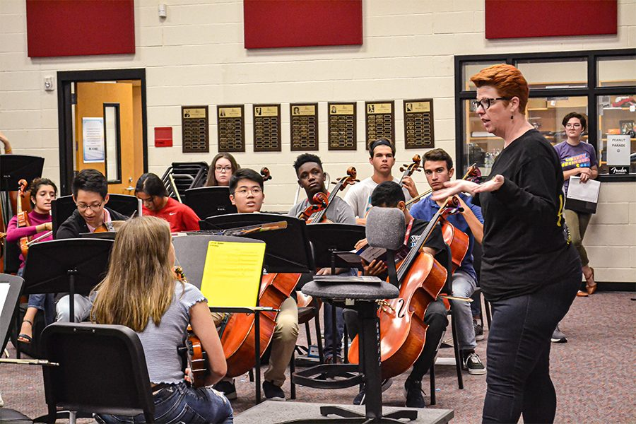 Having been virtual for more than a year, virtual students involved in orchestra are now able to drive up to the school exclusively during their class time.