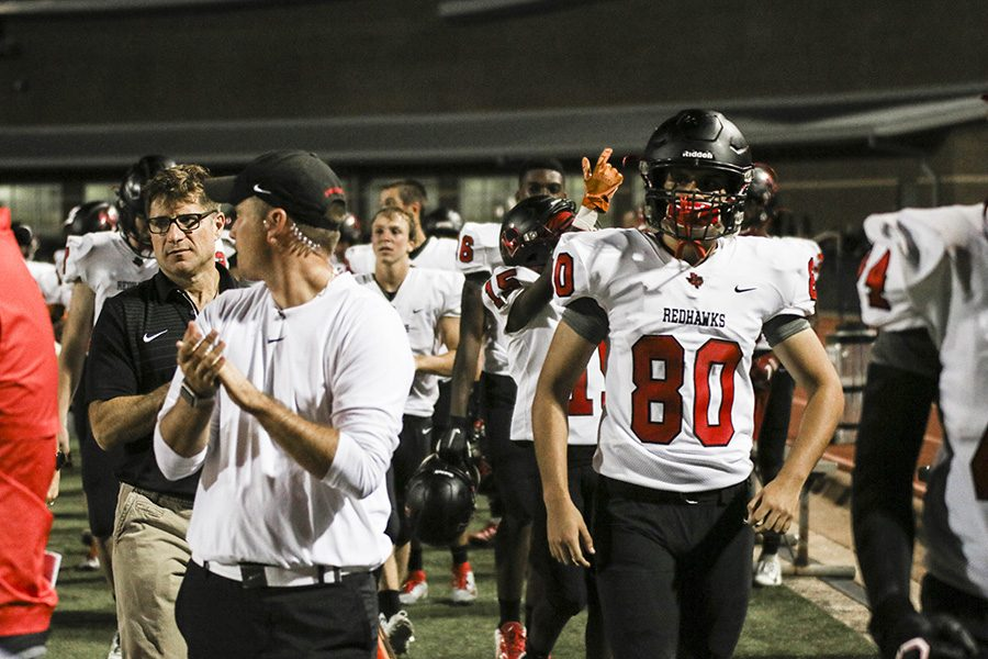 It+was+a+close+game+between+the+Redhawks+and+the+Little+Elm+Lobos+on+Thursday+at+Memorial+Stadium.+Following+a+tie%2C+the+Lobos+broke+it+with+a+48-yard+field+goal+leaving+the+final+score+to+be+27-24.