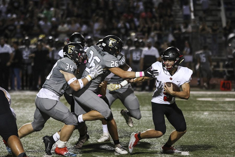 Traveling to The Colony to face the Cougars, the Redhawks struggled to get much going offensively as the teams running attack, despite 95 yards from Jonathan Bone, was constantly facing pressure.  The Cougars jumped out to an early lead and took the District 5-5A win 47-3.