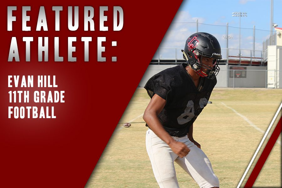 Junior+Evan+Hill+prepares+to+run+during+fourth+period+football+practice.+Hill%2C+a+starting+cornerback+on+the+varsity+team%2C+is+inspired+by+his+family+to+play+the+sport.