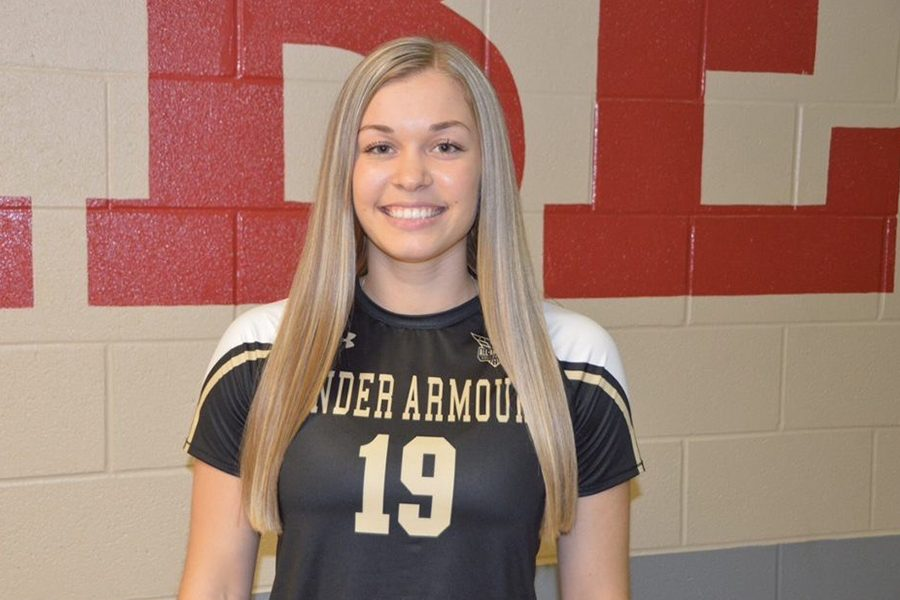 Wearing+her+newly+awarded+Under+Armour+All-American+jersey%2C+senior+volleyball+player+Jenna+Wenaas+is+just+one+of+several+athletes+recognized+for+their+accomplishments+at+an+athletics+department+ceremony+Tuesday+during+advisory.%0A%0AThe+ceremony+was+the+first+of+its+kind+and+was+the+inspiration+of+campus+athletic+director+and+head+football+coach+Matt+Swinnea.+%0A%0A%E2%80%9CI+think+that+we+as+a+community%2C+as+an+athletic+program%2C+are+a+big+part+of+the+school%2C%22+Swinnea+said.+%22So+if+we%27re+having+a+good+time%2C+and+loving+each+other%2C+then+the+school+will+do+the+same+thing.%E2%80%9D