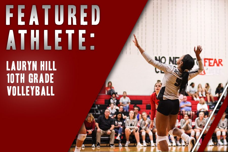 Sophomore%2C+volleyball+player+Lauryn+Hill+leaps+in+preparation+to+spike+a+ball+during+a+game+at+the+Nest.+Originally+playing+the+sport+to+spend+time+with+friends%2C+Hill+is+considering+a+future+career+in+volleyball.+