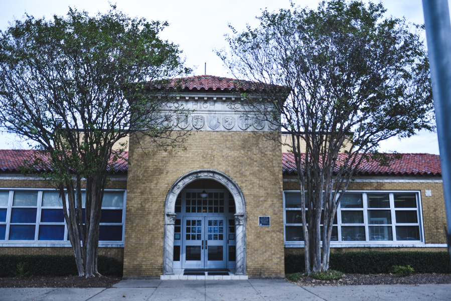 For more than 100 years, Frisco Independent School District has had a presence on Maple Street in downtown.   It began as the original site of Frisco High School, and over the years has undergone several stages of construction and renovation.   In 1937, the three story building on Maple Street was demolished with the current building constructed and serving as Frisco High School until 1973.  In 1997, the building was renovated once again and made the Student Opportunity Center.