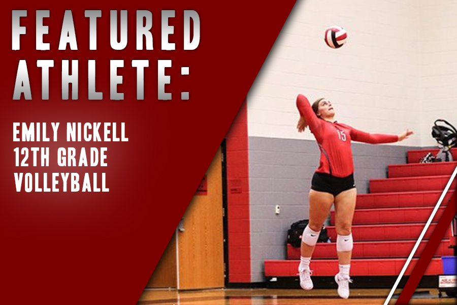 Senior Emily Nickell serves in a match against Frisco.  Nickell believes close connections between players are a big asset for the team as volleyball prepares for its second playoff game.