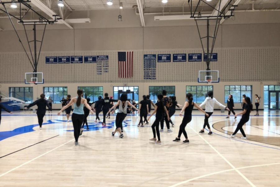 Students from local school master new techniques in the Collin College Plano campus gym. Multiple professors were at the college to run classes.