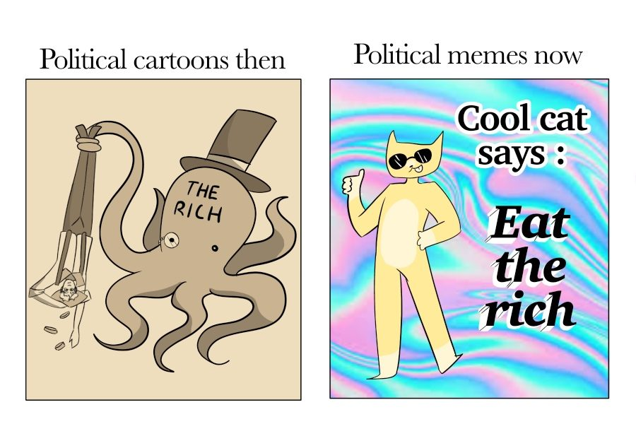 Political cartoons then and now