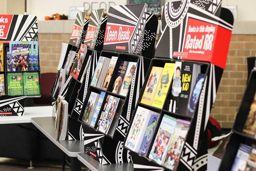 Books are now on display as a part of the Scholastic Book Fair. The book fair will last from Nov. 4-8 and books, pens, pencils, and posters also on sale.